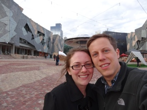 Honeymoon in Federation Square, Melbourne
