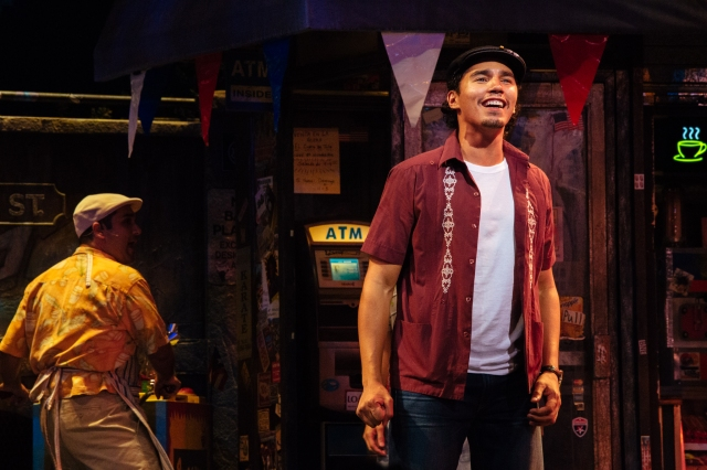 Jonathan Arana as Piragua Guy & Anthony Lee Medina as Usnavi. Photo by Os Galindo